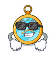super cool classic watch isolated on a mascot vector image vector image