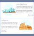 sydney opera house colosseum vector image