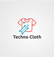 techno cloth logo icon element and template for vector image vector image