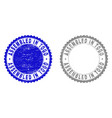 textured assembled in togo scratched stamp seals vector image vector image