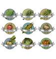 vintage set labels emblems or logo vector image vector image
