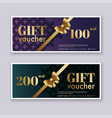 voucher template with color gift boxcertificate vector image vector image