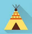wigwam icon flat design style modern vector image