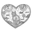 Woven cat vector image