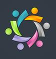 3D people teamwork logo vector image