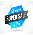 Summer Sale polygonal banner design template Sale vector image