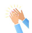 clapping hands of woman poster vector image