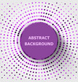 abstract background with purple circles halftone vector image