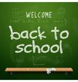 Back to school chalkboard design lettering vector image