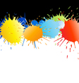 colorful paint splashes vector image