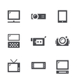 Visualization tools icon set vector image