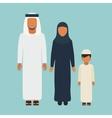 Arabic Family vector image