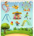 Children playground set of icons vector image