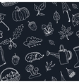 cute hand drawn autumn seamless pattern vector image