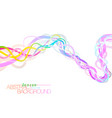 Abstract colorful flow on a white