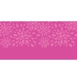 Abstract textile flowers pink horizontal seamless vector image