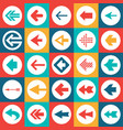 arrows sign - icons set web design element vector image