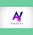av a v purple letter logo design with liquid vector image vector image