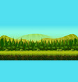 background for you game with green forest on vector image vector image