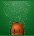 backpack and back to school background vector image vector image