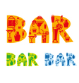 bar drinks sign vector image