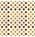 Beige brown and gold polka dots vector image vector image