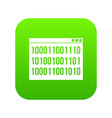 binary code icon digital green vector image