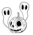 black and white pumpkin vector image vector image