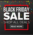 black friday sale banner marketing vector image