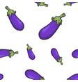 blue eggplant seamless pattern sketch vector image vector image