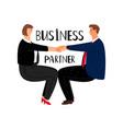 business partner cartoon vector image vector image