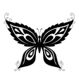 butterfly black silhouettes vector image vector image