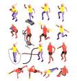 cardio activity isometric icons vector image vector image