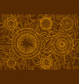 colored vintage background steampunk doodle style vector image