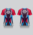 colorful sport jersey with abstract style vector image vector image