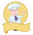 Cook with poster vector image