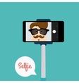 Cute Selfie background vector image