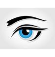 Dark blue female eye vector image