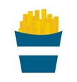 delicious french frieds fast food icon vector image