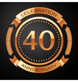 Forty years anniversary celebration with golden vector image vector image