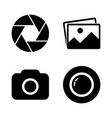 foto camera icon set vector image