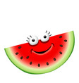 fun cute cartoon watermelon character vector image