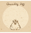 Groundhog Day Vintage hand drawn card vector image