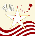 Independence Day - 4 th July Retro with Amer vector image vector image