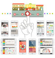 Infographic elements in smartphone vector image vector image