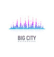 isolated stylized colorful city landscape like a vector image vector image