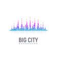 isolated stylized colorful city landscape like vector image