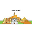italy matera city skyline architecture vector image