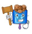 judge fried falafel served at the mascot vector image