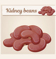 kidney beans icon cartoon vector image vector image